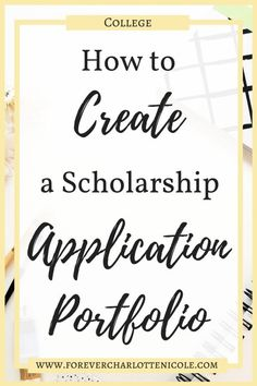 How to Create a Scholarship Application Portfolio Applying to scholarships can be extremely overwhelming, but it doesn't have to be if you have a prepared portfolio on hand! Today I am walking you through the steps of creating your own portfolio that will Grants For College, Financial Aid For College, College Planning, Online College, College Hacks, Scholarships For College, Education College, College Life, College Students