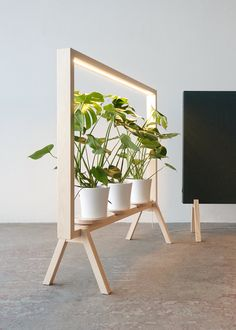 johan kauppi brings an illuminated frame for potted plants to the stockholm furniture . - johan kauppi launches an illuminated frame for potted plants at stockholm furniture … - Diy Furniture, Furniture Design, Rustic Furniture, Laminate Furniture, Green Furniture, Furniture Cleaning, Furniture Removal, Furniture Storage, Furniture Outlet