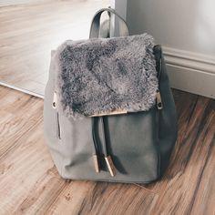 1410b5ee4be17 Izabella Faux Leather Bag (Grey)