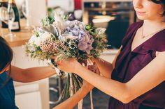 Beautiful bouquet by Les Herbes Hautes (Paris) #Hortensia #dahlia