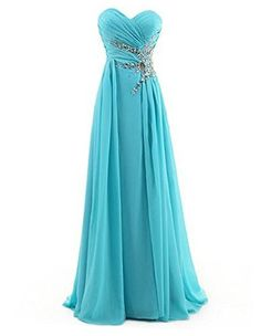 Sparkly Prom Dress, sweetheart beading floor length chiffon prom dress evening gown , These 2020 prom dresses include everything from sophisticated long prom gowns to short party dresses for prom. Blue Chiffon Dresses, Chiffon Evening Dresses, Prom Dresses Blue, Pretty Dresses, Homecoming Dresses, Bridesmaid Dresses, Formal Dresses, Chiffon Gown, Prom Gowns