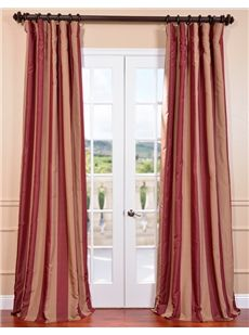 Ultra Lux Tannin Ruby Wine Blackout Faux Silk Taffeta Stripe Curtain. Get up to 40% Off at Half Price Drapes using Coupon and Promo Codes.