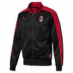 Training Tops, Training Pants, Ac Milan Logo, Puma Shop, Bench Jackets, Puma Sweatshirts, Mens Outdoor Jackets, Football Jackets, Puma Mens