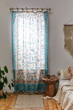 Allegra Window Panel | Urban Outfitters Allegra's Window, Window Panels, Colorful Shower Curtain, Bohemian Curtains, Crystal Door Knobs, Brooklyn Apartment, Curtain Styles, Happy House, Room Inspiration