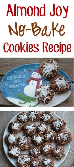 Almond Joy No-Bake Cookies Recipe! {nothing beats the simplicity of easy no bake dessert recipes!} #cookie #desserts