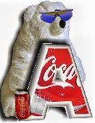 Alfabeto de Coca Cola con osos polares.
