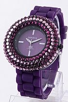 Purple watch with a little bling. Must have!