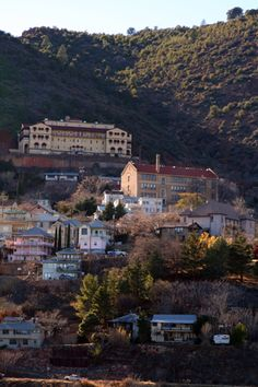 "Jerome, Arizona - a little mining town near Sedona on the side of a mountain. The Jerome Grand Hotel on the hill as seen on Season 4 Episode 20 of Ghost Adventures is known as the most haunted structure in the tiny town of Jerome, also known as ""Ghost City."" ~ 2/16/13 - Done."