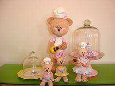 Ursinha Confeiteiras em biscuit!