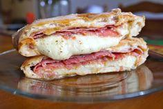 Loaded Stromboli Yum - The Slightly Healthy Mama Homemade Stromboli, Stromboli Recipe, Calzone, Ham Salad Recipes, Beef Recipes, Cooking Recipes, Recipies, Dessert Recipes, Italian Sausage Sandwich