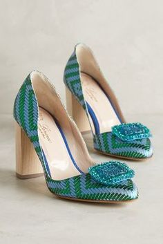 Nora Scarpe di Lusso Vera Heels Green Motif 38 Euro Heels
