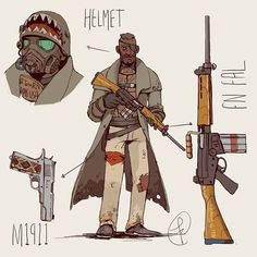 Desert ranger  My last commission  1000 followers reached ! Thanks  #digitalart #conceptart #characterdesign #fanart #falloutnv #fallout #military #warfare #firearms #wasteland #postapocalyptic #weapons #western by fc_arts_