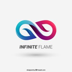 Infinito logotipo Vetor grátis