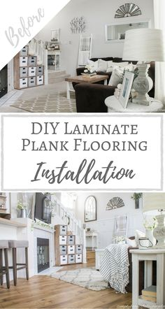 Simply Beautiful by Angela: DIY Laminate Plank Flooring Installation