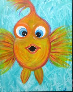 acrylic painting ideas for spring.acrylic painting ideas for children.acrylic painting ideas for bedroom.acrylic painting ideas for living room.acrylic painting ideas for fall. Simple Oil Painting, Simple Acrylic Paintings, Easy Paintings, Animal Paintings, Painting & Drawing, Paintings Of Fish, Easy Painting For Kids, Acrylic Painting For Kids, Watercolor Paintings