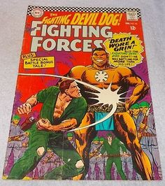 DC Comic Book Our Fighting Forces, Devil Dog No 98 1966 FN/VF,,,,,,,,,,,7.95