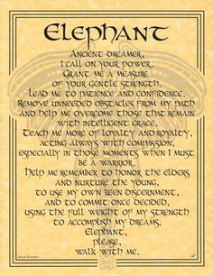 ELEPHANT PRAYER PARCHMENT POSTER - Wicca, pagan, witch picclick.com