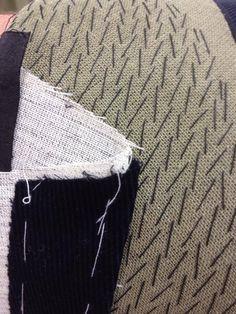 Pad stitching close up at SRTA