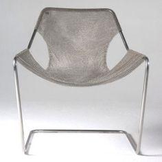 mobilier en cotte de maille, fauteuil en cotte de maille, Paulistano, Paulo Mendes da Rocha, ©objekto