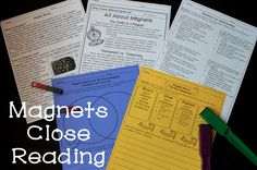 Magnets Reading Comprehension and Close Reading Activities - Includes written response, multiple choice questions, compare and contrast, main idea!