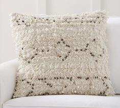 Moroccan Wedding Blanket Pillow Cover - Neutral