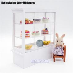 1:12 Miniature White Display Bakery Shop Cabinet Counter Wooden Dollhouse Furniture Shelving Case Big Size Toys Doll Accessories Wooden Dollhouse, Dollhouse Furniture, Bakery Store, Shop Cabinets, Display Case, Doll Accessories, Doll Toys, Shelving, Counter
