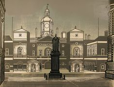 Nine London Monuments series by Edward Bawden, 1966.