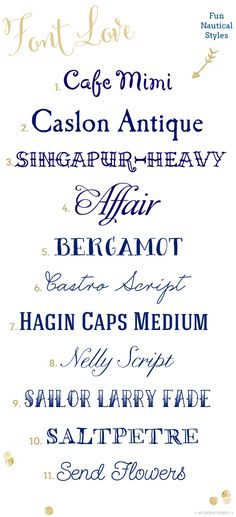 Nautical fonts | Mospens Studio