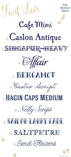Nautical fonts | Mospens Studio