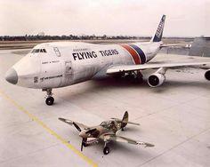 "Flying Tiger Line, (dba Flying Tigers), Boeing ""FreightMaster"" Tiger Airlines, Cargo Airlines, Cargo Aircraft, Boeing Aircraft, 747 Airplane, Old Planes, Airplane Photography, Jumbo Jet, Football Memes"