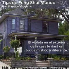 Feng shui el violeta en el exterior