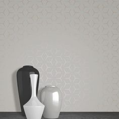 Charcoal and Copper Illusion Geometric Wallpaper - Metro WOW004