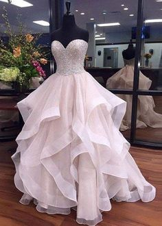 Sweetheart Prom Dress, Long Princess Prom Dresses, Party Gown, Graduation Dresses, Formal Dress For Teens, pst1585