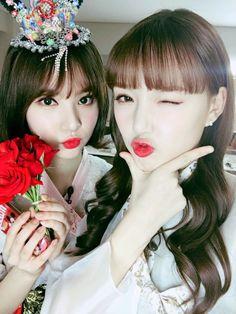 Eunha and Yerin South Korean Girls, Korean Girl Groups, Jung Eun Bi, G Friend, Girl Photos, Kpop Girls, Pretty, Ships, Twitter