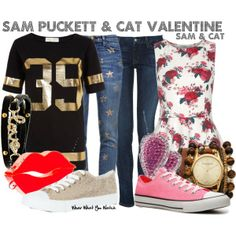 Inspired by Jennette McCurdy & Ariana Grande as Sam Puckett and Cat Valentine on Sam & Cat.