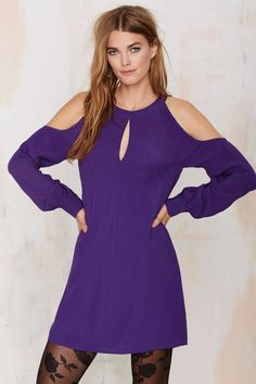 On Sale for $14 Nasty Gal Cut and Run Dress - Purple | Shop Clothes at Nasty Gal!