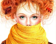 Bekijk dit @Behance-project: 'Colored Pencil Fall Girl, 2012' https://www.behance.net/gallery/11136633/Colored-Pencil-Fall-Girl-2012
