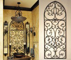 Tuscan Iron Wall Decor - Love the Tuscan decor bathroom!
