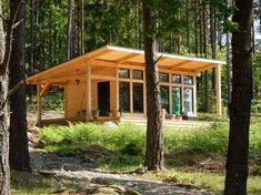 Attefallshus Lindköping I — Swedish Timber Frame Tiny Cabins, Tiny House Cabin, Cabins And Cottages, Tiny House Living, Tiny House Plans, Cabin Homes, Cabin Design, Tiny House Design, Ideas Cabaña