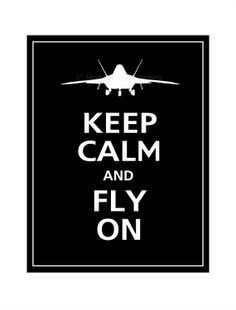 Keep Calm and FLY ON F22 Raptor Fighter Jet  Poster by PosterPop, $14.95