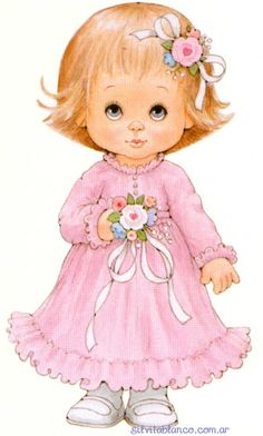 Dibujos. Clipart. Digi stamps - Dolls by Ruth Morehead