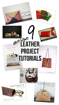 Five tips for sewing with leather and a round up of 9 great leather project tutorials.