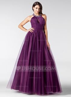 Quinceanera Dresses - $152.99 - A-Line/Princess Halter Floor-Length Tulle Quinceanera Dress With Ruffle Beading (021020811) http://jjshouse.com/A-Line-Princess-Halter-Floor-Length-Tulle-Quinceanera-Dress-With-Ruffle-Beading-021020811-g20811?pos=best_selling_items_297