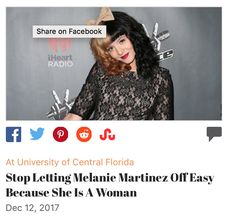 Go read and share my article so people can understand why Melanie Martinez needs to be treated the same as all other rapists. The fact that she is a woman is irrelevant.