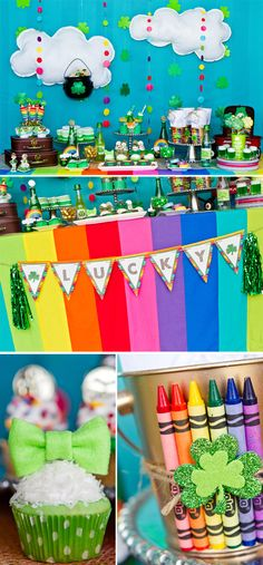 "St. Patrick's Day ""Pot of Gold"" Rainbow Party! By Pizzazzerie"