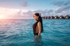 Beautiful Angelina at the sunset on Maldives by dens22us
