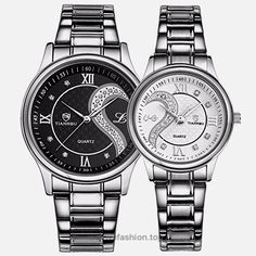 Fq-102 Stainless Steel Romantic Pair His and Hers Wrist Watches for Men Women B+W Set of 2 BUY NOW     $49.99    This his-and-hers watch set is designed for couples,Love will be everlasting!  Genuine brand, special and elegant appearance,they are best choice as a present for anniversary,Valentine's Day and birthday! They are al ..