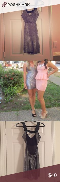 Silver mini dress Awesome party dress! Perfect for Vegas or New Years! Dresses Mini