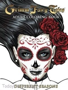 Grimm Fairy Tales (New Adult Stress Relief Coloring Book) Different Seasons