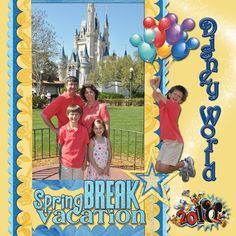 disney world scrapbook layouts | disney worlds